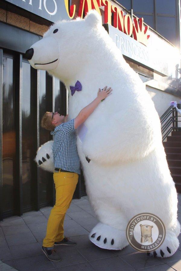 Ростовая кукла Белый медведь 3,5 метра
